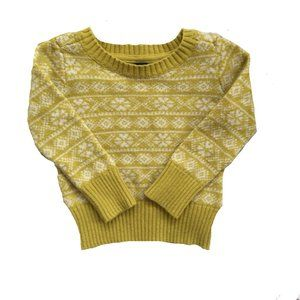 Baby Gap Yellow Winter Knit Sweater
